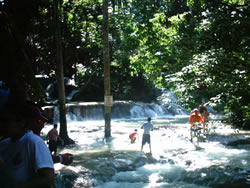 Dunn's River Falls top of fall