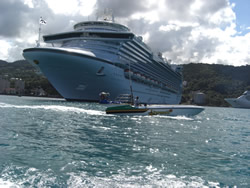 Cruise Ship in Ocho Rios Dock