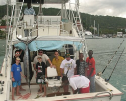 Jamaica Deep Sea Fishing Boat catch Blue Marlin